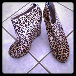 Funky Matiko animal print pony hair booties!